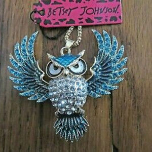 Owl Necklace by Betsey Johnson